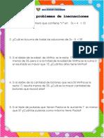 Ficha de Problemas de Inecuaciones