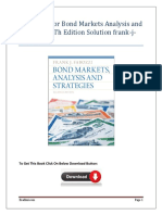 Test Bank Solution For Bond Markets Analysis and Strategies 8Th Edition  Frank-j-fabozzi