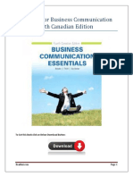 Test Bank For Business Communication Essentials 4th Canadian Edition