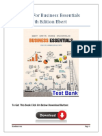 Test Bank For Business Essentials Canadian 8th Edition Ebert