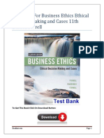 Business Ethics Ethical Decision Making and Cases 11th Edition Ferrell Test Bank.docx
