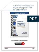Business Government and Society A Managerial Perspective Text and Cases 13th Edition Test Bank Steiner.docx