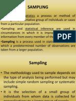 Lecture 9, 10 & 11 Sampling Statistics (1)