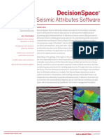 DecisionSpace Seismic Attribute Software Data Sheet