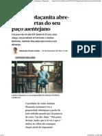 António Maçanita Abre-nos as Portas Do Seu Paço Alentejano _ Especial Vinhos _