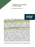 """Sánchez Estop, Juan Domingo, """"El sujeto y el súbdito en el Leviathan de Thomas Hobbes"""", Anales del Seminario de Historia de la Filosofía, V-1985, Ed. Universidad Complutense de Madrid, pp. 249-258"""
