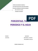 Porcentaje, Tabla Periodica y El Agua
