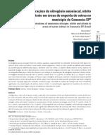 Concentrações do nitrogênio amoniacal, nitrito e nitrato em áreas de engorda de ostras no município de Cananeia-SP