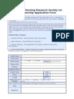 PNRS Membership Application Form