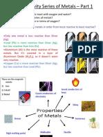 3.1 the Reactivity Series of Metals
