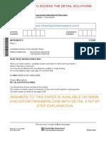 Secondary Checkpoint Mathematics April Paper 1 2019 Question Paper
