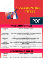 Accounting Titles