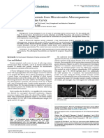 A Case of Ovarian Metastasis From Microinvasive Adenosquamous Carcinoma of