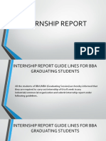 Internship Guidelines for BBA (Hons)
