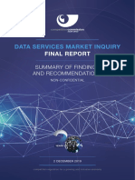 Data Market Inquiry Summary