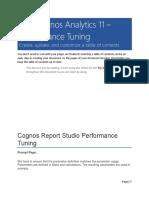 Performance Tuning - Cognos