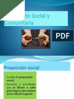 proyección social comunitaria