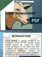 Goat management