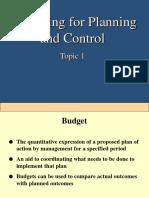 Budgeting (Topic 1-3)