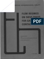 Flow Regimes on Sieve Trays for Gas Liquid Contacting
