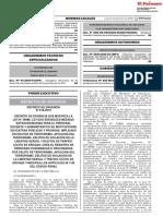 Decreto de Urgencia que modifica la Ley N° 29988