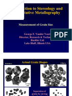 Intro to Stereo Logy Grain Size