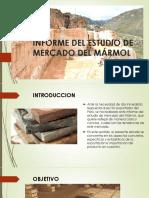 Informe Del Estudio de Mercado Del Mármol