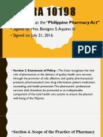 Phil Pharmacy Act