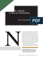 Mário de Andrade e a lição do Modernismo