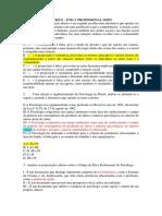 Exercicio de Revisão NP1 - Ética Profissional