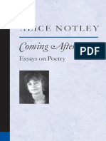 (Poets on poetry) Notley, Alice - Coming after _ essays on poetry-University of Michigan Press (2005).pdf