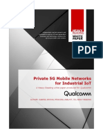 Private 5G Networks for Industrial IoT