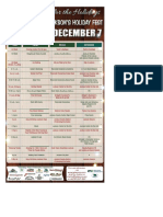 Holiday Fest Schedule