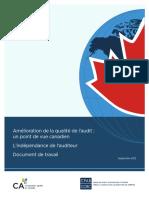 Amelioration de La Qualite de Laudit Point de Vue Can Indep Audit Resume Rep Doc Trav R2 00111