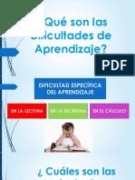Qué son las Dificultades de Aprendizaje SUCRE.pptx