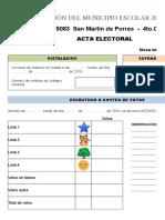 Diseño de Acta Electoral