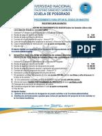 Requisitos de Documentos Maestria
