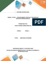 ECONOMIA INTERNACIONAL   UNIDAD 1. ETAPA 1 – RECONOCIMIENTO VENTAJAS Y DESVENTAJAS NEGOCIOS INTERNACIONALES- UNAD