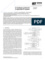 Nonlinear Control Zsource in Grid-tied PV Systems