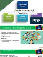 Aulas 2 Funções Administrativas Financeiras