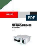 Mr9200 Mr9400 User Manual
