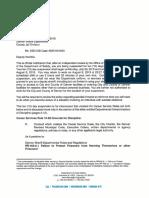 Denver Deputy Timothy Kemble Discipline Letter