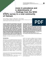 Gender Diff Htn Rural Vn Minh j Human Htn 2006