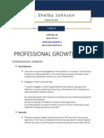 johnson - professional growth plan