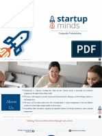 Startupminds- Fund Raising and Business Consulting Pitch