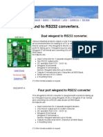 Wiegand to RS232 Converters