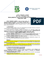 Regulament Cupa Tymbark 2019-2020