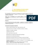 Plan de Trabajo 2012-2015