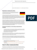 Business Communication in Germany_ Language Matters
