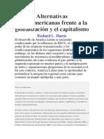 Alternativas Latinoamericanas Frente a La Globalización y El Capitalismo